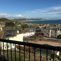 Photo taken at Lyme Regis by Dave E. on 9/30/2016
