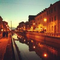 Photo taken at Naviglio Grande by Giovanni C. on 3/31/2013