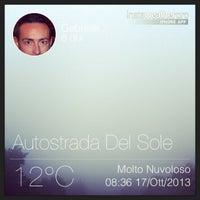 Photo taken at Autostrada A1 by Gabriele M. on 10/17/2013