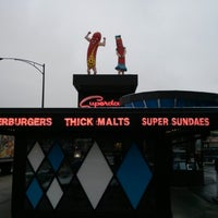 Photo taken at Superdawg Drive-In by Jeremy D. on 12/28/2012
