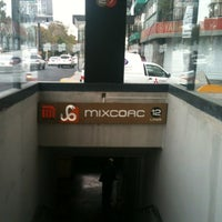 Photo taken at Metro Mixcoac (Líneas 7 y 12) by Mauricio L. on 11/26/2012