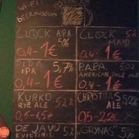 Photo taken at Vilnius Beer Museum by Tadas P. on 12/10/2015