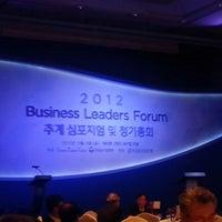 Photo taken at Walkerhill Hotel 무궁화홀 by Yoonjae K. on 11/9/2012