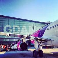 Photo taken at Gdańsk Lech Wałęsa Airport (GDN) by Jyri R. on 8/18/2013