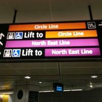 Photo taken at Dhoby Ghaut MRT Interchange (CC1/NE6/NS24) by KýlęAārön🌹 ك. on 4/9/2013