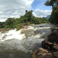 Photo taken at Tad Lo Waterfall by att s. on 8/11/2014