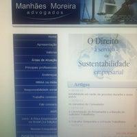 Photo taken at Manhães Moreira & Ciconelo Sociedade de Avogados by Herbert P. on 2/21/2013