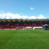 Photo taken at Sincil Bank Stadium-Lincoln City Football Club by Angie T. on 5/4/2013