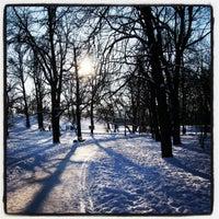 Photo taken at Park Bródnowski by Dariusz K. on 2/8/2013