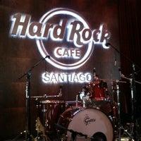 Photo taken at Hard Rock Cafe Santiago by Felipe H. on 1/23/2013