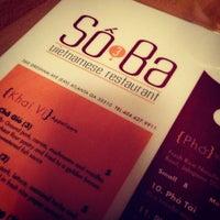 Photo taken at So Ba Vietnamese Restaurant by Yvonne R. on 1/22/2013