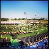 Photo taken at Avon High School Oriole Stadium by Andrew M. on 8/24/2013