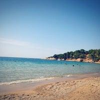 Photo taken at Mandraki beach by VSandra on 8/9/2015