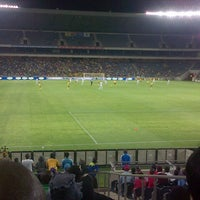Photo taken at Orlando Stadium by Thabo P. on 1/12/2013
