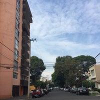 Photo taken at Calle Heriberto Frías by Inti A. on 7/24/2017