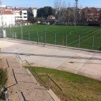 Photo taken at Can Gili, Camp de Futbol Del Finsobe by David G. on 12/29/2012