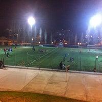 Photo taken at Can Gili, Camp de Futbol Del Finsobe by David G. on 1/9/2013
