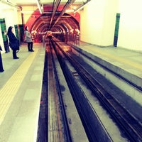 Photo taken at Tünel Tramvay Durağı by Esra Y. on 5/8/2013
