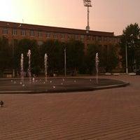 "Photo taken at Фонтан светомузыкальный ""Торнадо"" by Ann M. on 7/15/2013"