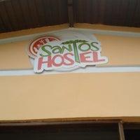 Photo taken at Santos Hostel by Vinicius C. on 12/24/2013