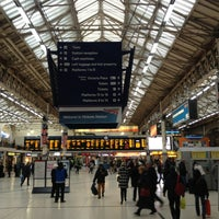 Photo taken at London Victoria Railway Station (VIC) by Alexi K. on 2/3/2013