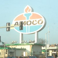 Photo taken at World's Largest Amoco Sign by Justin E. on 2/5/2013