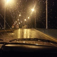 Photo taken at Puente Nicolás Avellaneda by Gonzalo I. on 3/10/2014