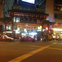 Photo taken at Petaling Street (Chinatown) by Mariya S. on 5/1/2013