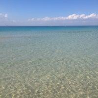 Photo taken at Spiaggia San Vito Lo Capo by Alex M. on 5/12/2013