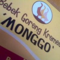 Photo taken at Bebek Goreng Kremes 'Monggo' by Endah N. on 1/22/2014