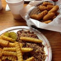 Photo taken at Lexington Barbecue by Steven R. on 4/18/2013