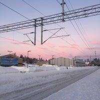 Photo taken at Moelv stasjon by Dashka T. on 1/30/2018