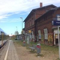 Photo taken at Bahnhof Seelow (Mark) by Jörg S. on 10/21/2017
