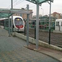 Photo taken at Üniversite Tramvay Durağı by 💯‼️ on 2/24/2013