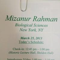 Photo taken at Sheldon Hall by MIZANUR R. on 3/25/2013