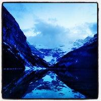 Photo taken at Lake Louise by Rogerio M. on 5/29/2013