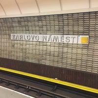 Photo taken at Metro =B= Karlovo náměstí by Hana S. on 9/14/2017