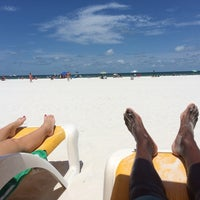 Photo taken at Sandpearl Resort Beach by Onochie O. on 6/21/2014