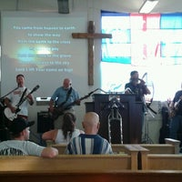 Photo taken at rock solid motorcycle ministry by Laura O. on 8/22/2013