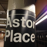 Photo taken at Astor Place by Lenora R. on 2/18/2013
