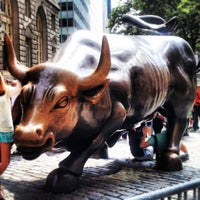 Photo taken at Charging Bull by Arturo Di Modica by isuvaish on 8/31/2013