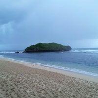 Photo taken at Sadranan Beach - Yogyakarta by El L. on 6/9/2013