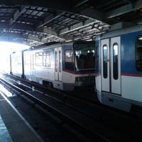 Photo taken at Yellow Line - Araneta Center-Cubao Station by Third M. on 1/9/2013