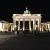 Photo taken at Brandenburg Gate by Wiktoria G. on 5/1/2013