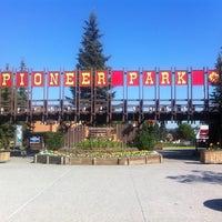 Photo taken at Pioneer Park by Nicki G. on 7/14/2013