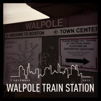 Photo taken at Walpole Train Station by joe on 12/7/2015