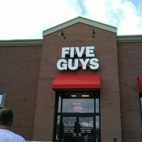 Photo taken at Five Guys by Lisa M. on 10/5/2013