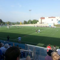 Photo taken at Stanley H. Durwood Soccer Stadium and Recreational Field by AJ R. on 5/8/2014