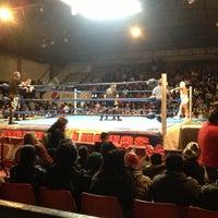 Photo taken at Arena Adolfo Lopez Mateos by Roger B. on 12/2/2012