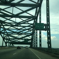 Photo taken at New Hampshire / Maine State Line by Erik on 7/16/2013